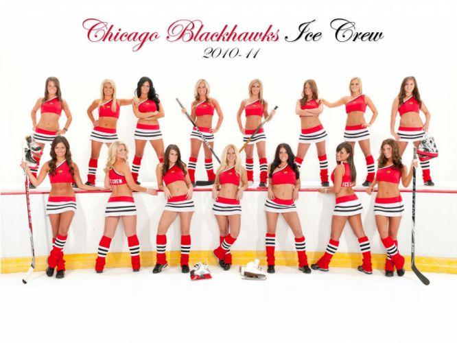 chicago blackhawks cheerleader nhl hockey r wallpaper
