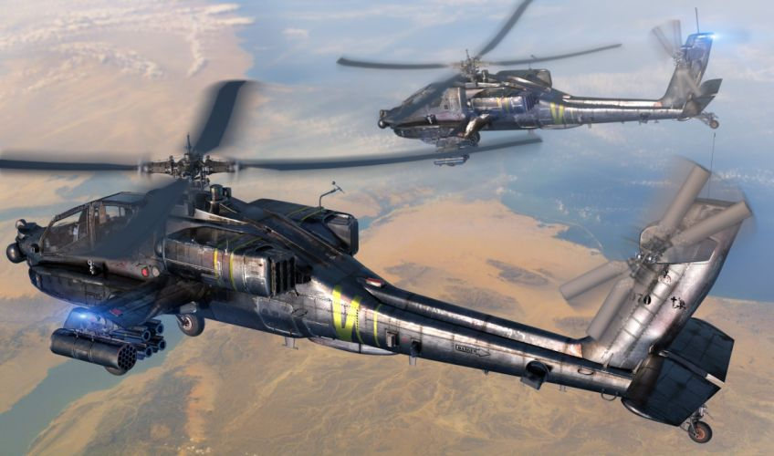 AH-64 APACHE attack helicopter army military weapon (1) wallpaper
