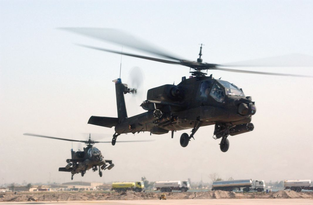 AH-64 APACHE attack helicopter army military weapon (7) wallpaper