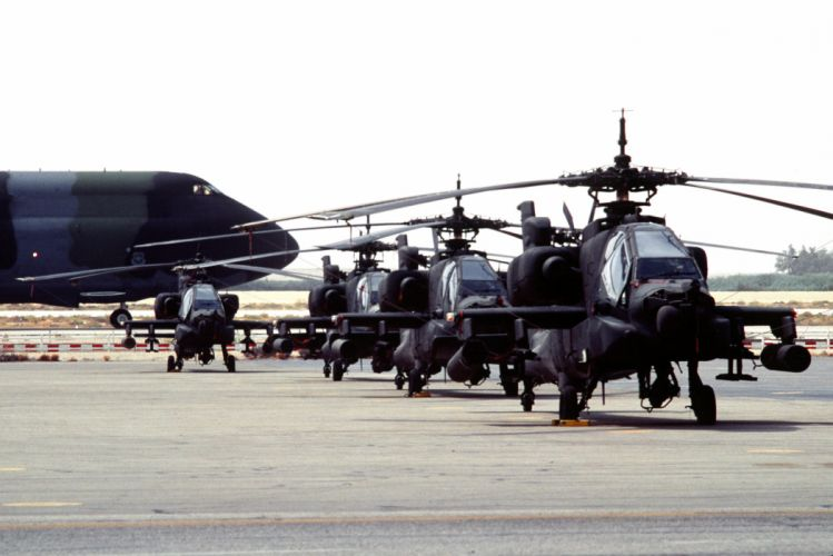 AH-64 APACHE attack helicopter army military weapon (12) wallpaper