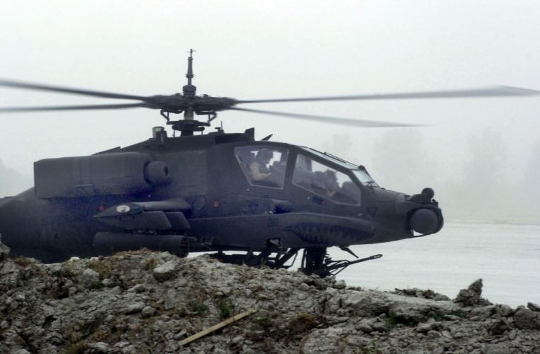 AH-64 APACHE attack helicopter army military weapon (9) wallpaper