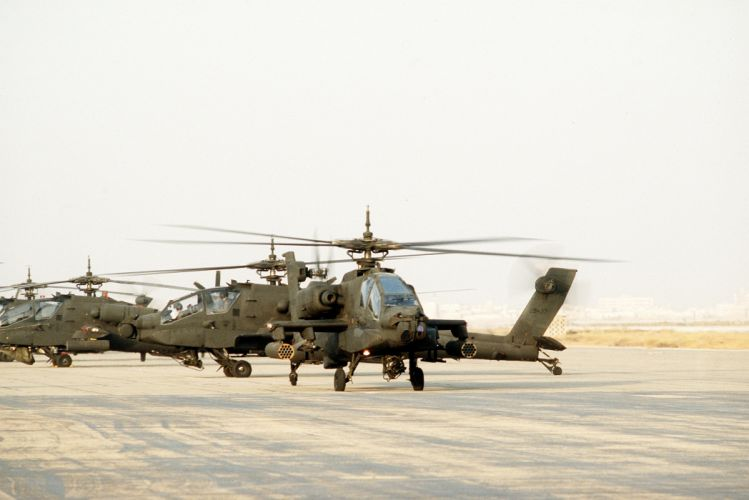 AH-64 APACHE attack helicopter army military weapon (11) wallpaper