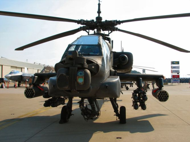 AH-64 APACHE attack helicopter army military weapon (13) wallpaper