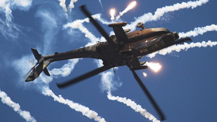 AH-64 APACHE attack helicopter army military weapon (18) wallpaper