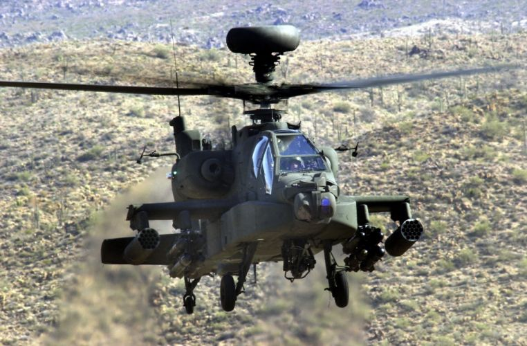 AH-64 APACHE attack helicopter army military weapon (38) wallpaper