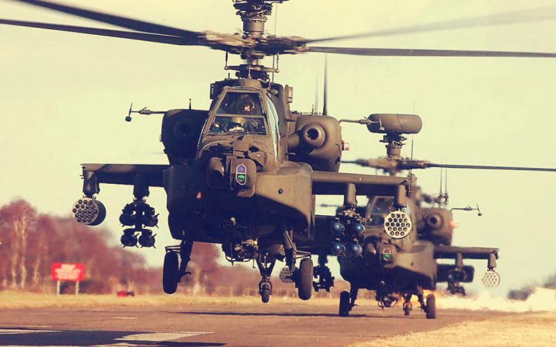 AH-64 APACHE attack helicopter army military weapon (35) wallpaper