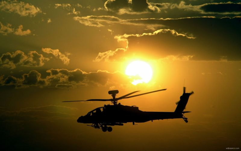 AH-64 APACHE attack helicopter army military weapon (10) wallpaper