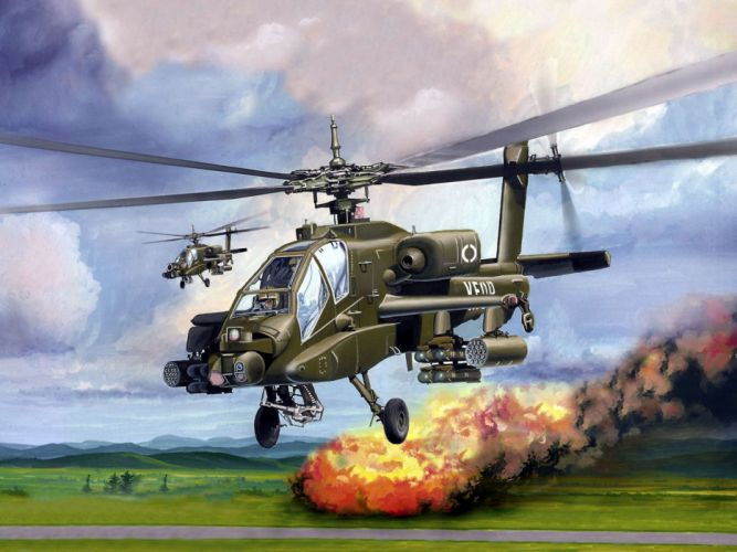 AH-64 APACHE attack helicopter army military weapon (2) wallpaper