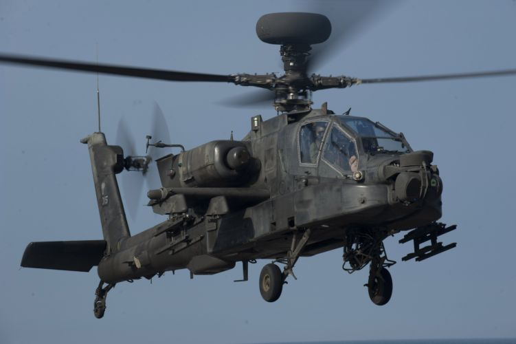 AH-64 APACHE attack helicopter army military weapon (6) wallpaper