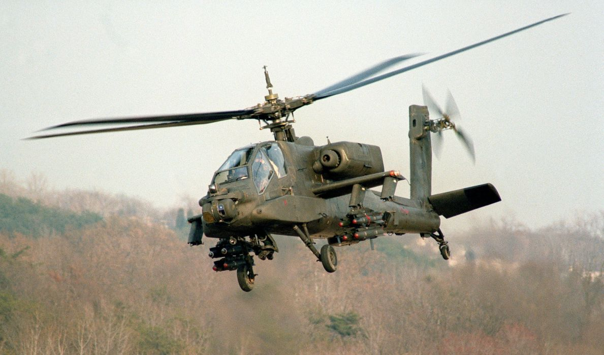 AH-64 APACHE attack helicopter army military weapon (8) wallpaper
