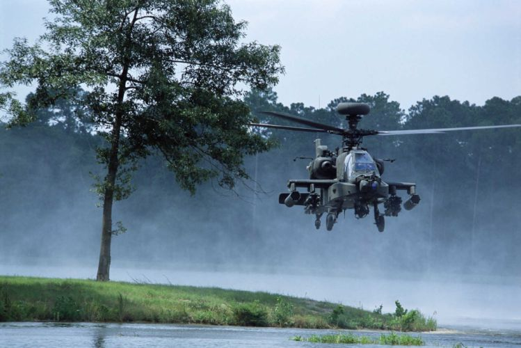 AH-64 APACHE attack helicopter army military weapon (21) wallpaper