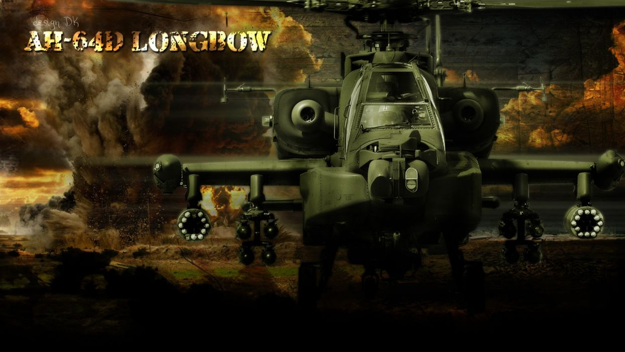 AH-64 APACHE attack helicopter army military weapon (22) wallpaper