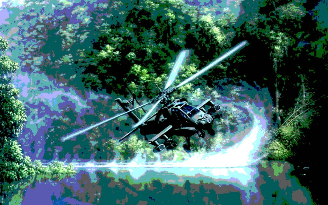 AH-64 APACHE attack helicopter army military weapon (24) wallpaper