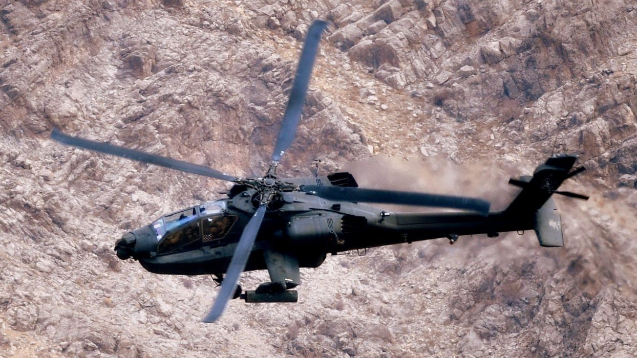 AH-64 APACHE attack helicopter army military weapon (42) wallpaper