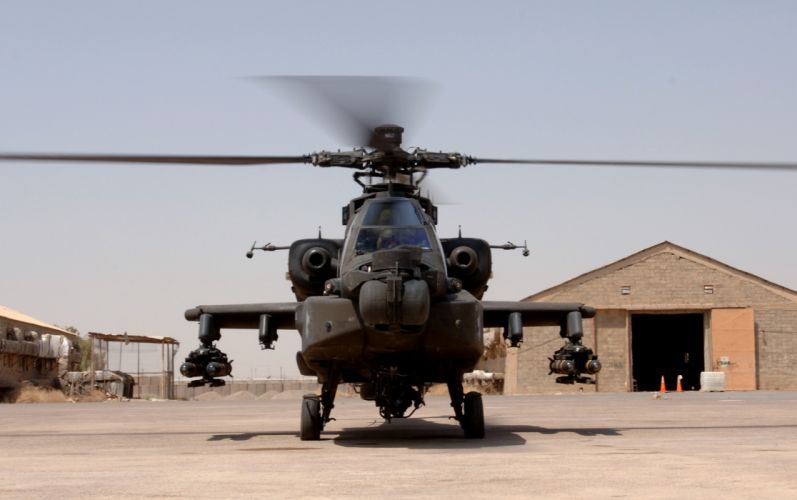 AH-64 APACHE attack helicopter army military weapon (34) wallpaper