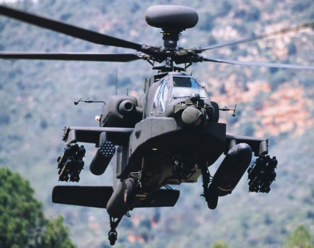 AH-64 APACHE attack helicopter army military weapon (40) wallpaper