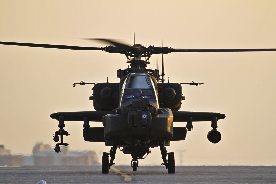 AH-64 APACHE attack helicopter army military weapon (29) wallpaper