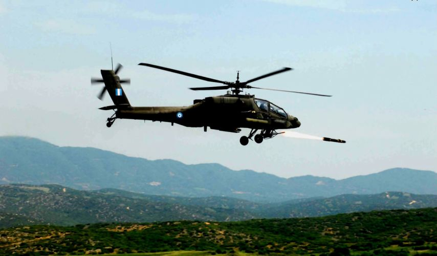 AH-64 APACHE attack helicopter army military weapon (53) wallpaper