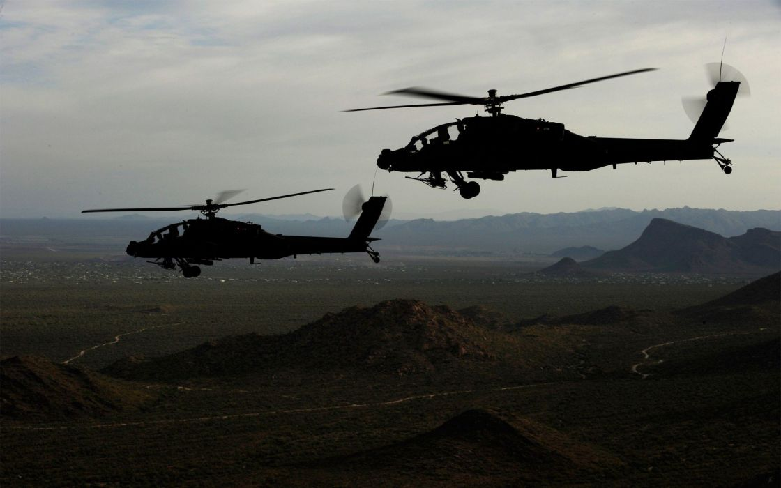 AH-64 APACHE attack helicopter army military weapon (55) wallpaper