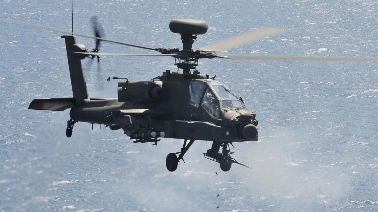 AH-64 APACHE attack helicopter army military weapon (49) wallpaper