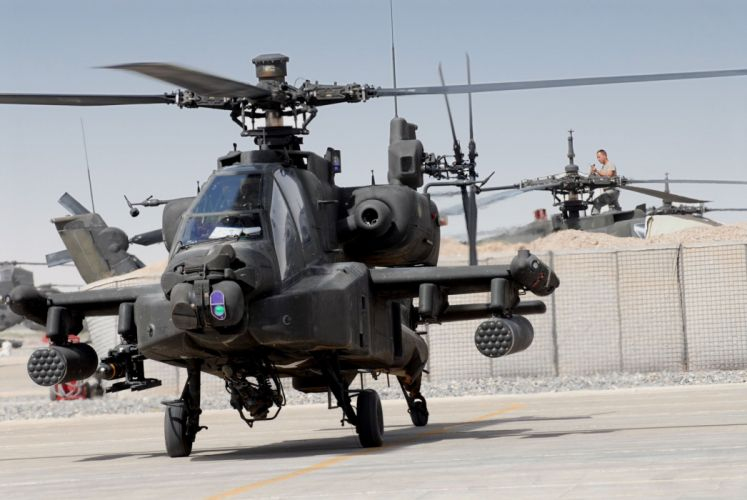 AH-64 APACHE attack helicopter army military weapon (51) wallpaper