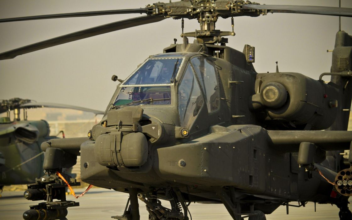 AH-64 APACHE attack helicopter army military weapon (47) wallpaper