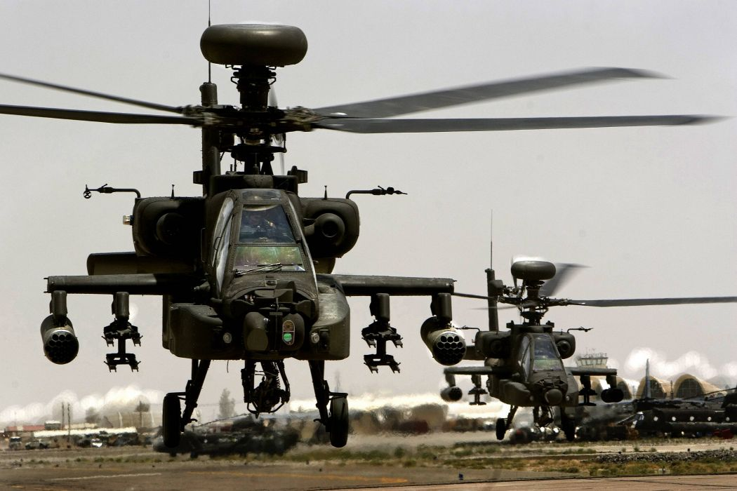 AH-64 APACHE attack helicopter army military weapon (63) wallpaper