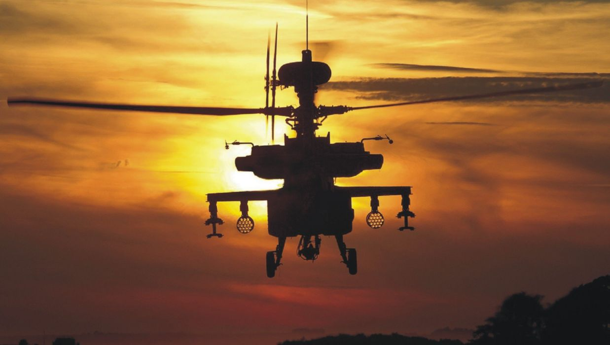 AH-64 APACHE attack helicopter army military weapon (69) wallpaper