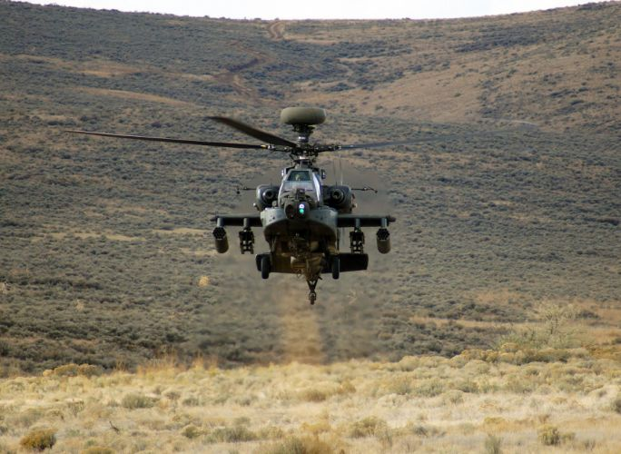 AH-64 APACHE attack helicopter army military weapon (72) wallpaper