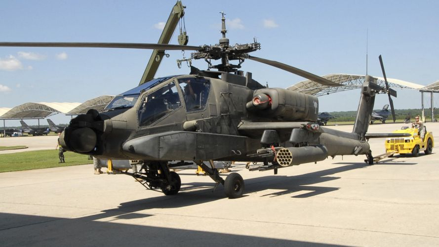 AH-64 APACHE attack helicopter army military weapon (71) wallpaper