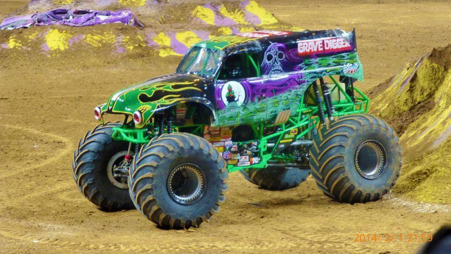 MONSTER-TRUCK race racing offroad 4x4 hot rod rods monster trucks truck (38) wallpaper