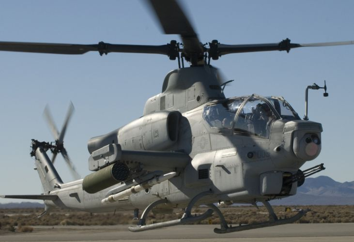 AH-1W SUPER COBRA attack helicopter military weapon aircraft (10) wallpaper