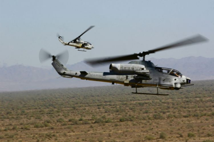 AH-1W SUPER COBRA attack helicopter military weapon aircraft (7) wallpaper