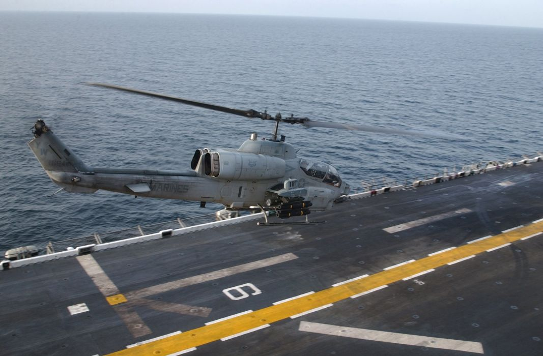 AH-1W SUPER COBRA attack helicopter military weapon aircraft (2) wallpaper