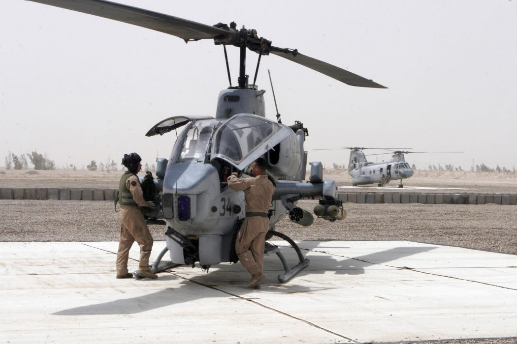 AH-1W SUPER COBRA attack helicopter military weapon aircraft (3) wallpaper