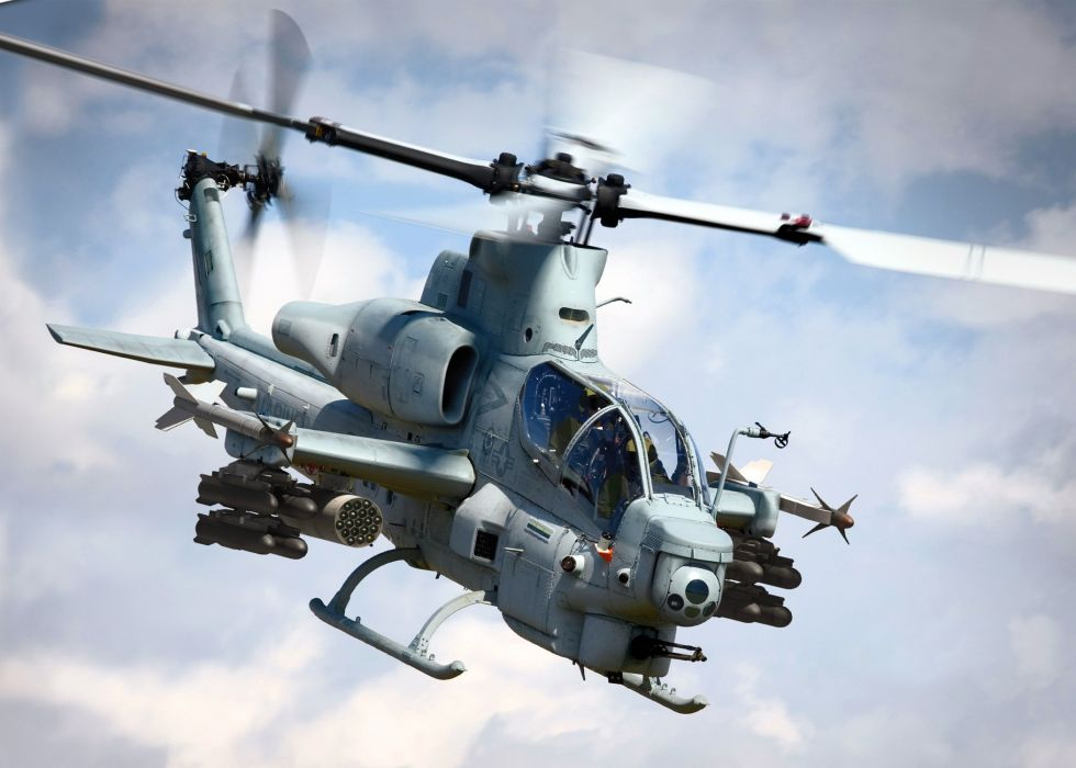 AH-1W SUPER COBRA attack helicopter military weapon aircraft (13) wallpaper
