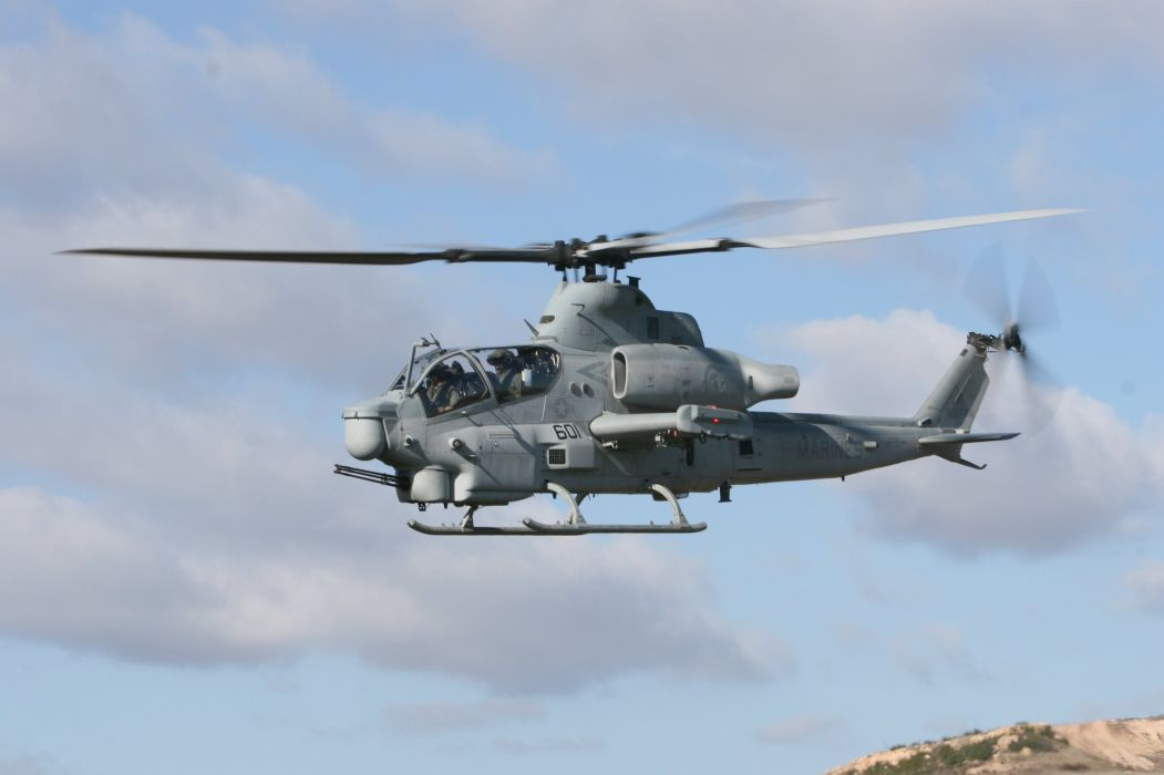 AH-1W SUPER COBRA attack helicopter military weapon aircraft (12) wallpaper