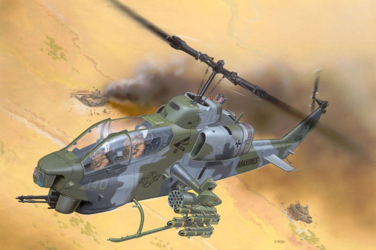 AH-1W SUPER COBRA attack helicopter military weapon aircraft (38) wallpaper