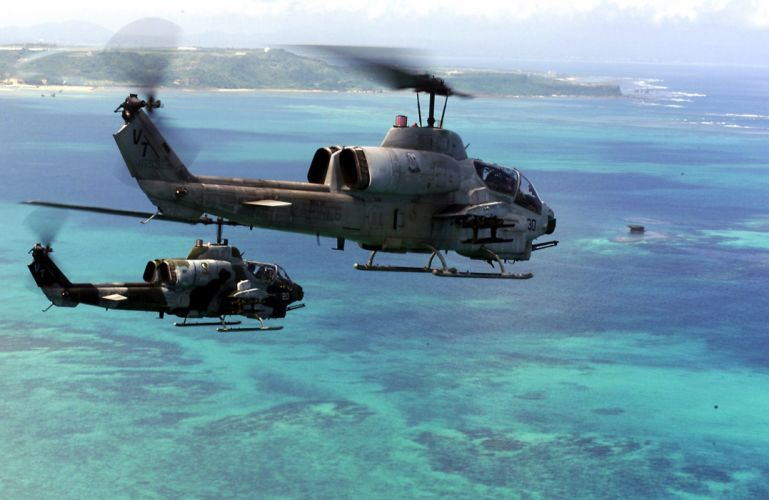 AH-1W SUPER COBRA attack helicopter military weapon aircraft (28) wallpaper