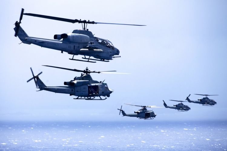 AH-1W SUPER COBRA attack helicopter military weapon aircraft (34) wallpaper