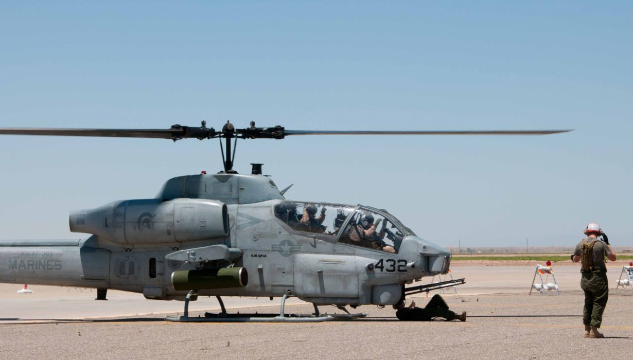 AH-1W SUPER COBRA attack helicopter military weapon aircraft (46) wallpaper