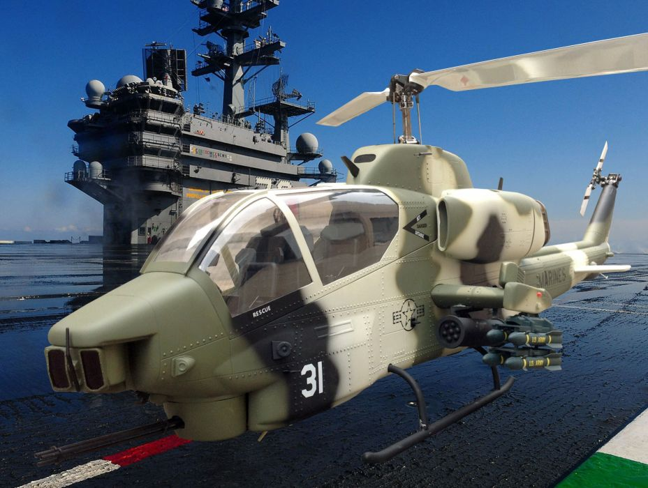 AH-1W SUPER COBRA attack helicopter military weapon aircraft (44) wallpaper