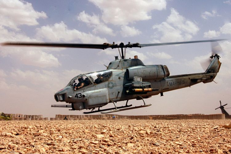 AH-1W SUPER COBRA attack helicopter military weapon aircraft (63) wallpaper