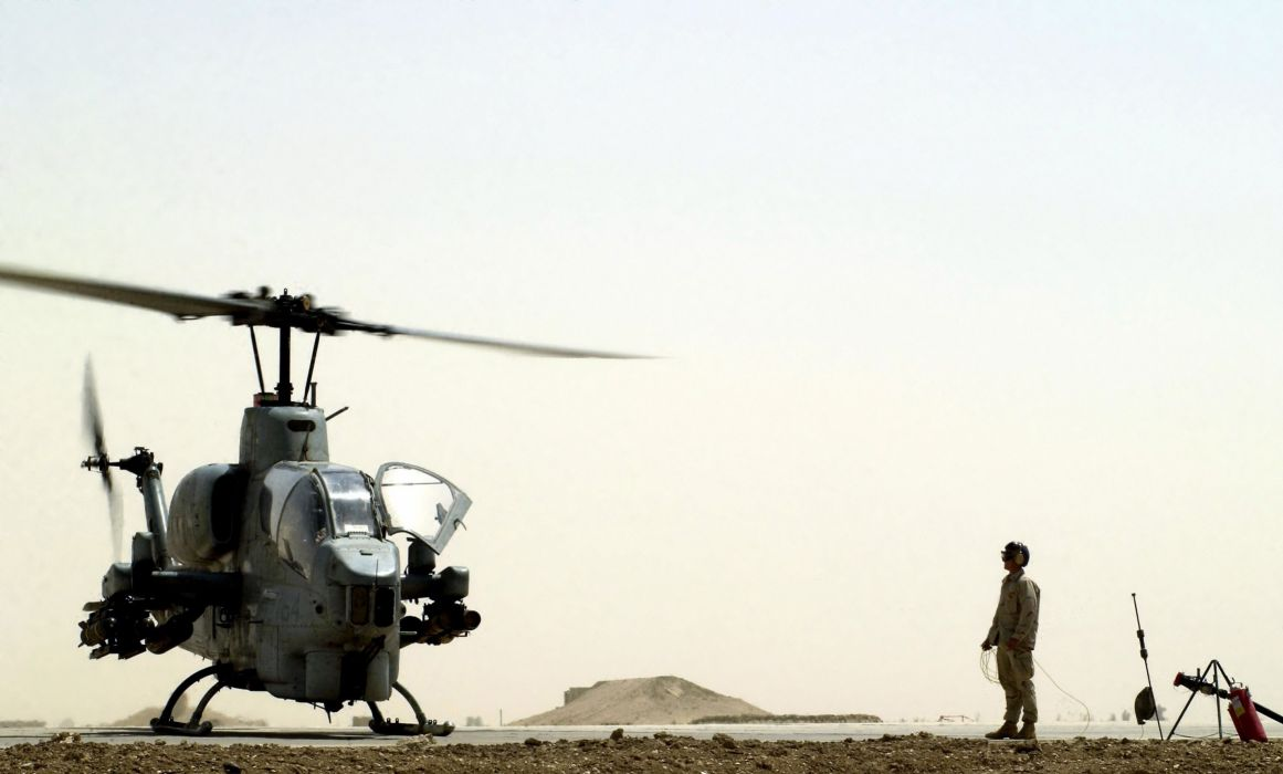 AH-1W SUPER COBRA attack helicopter military weapon aircraft (86) wallpaper