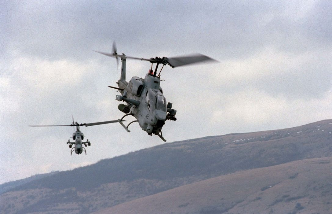 AH-1W SUPER COBRA attack helicopter military weapon aircraft (83) wallpaper
