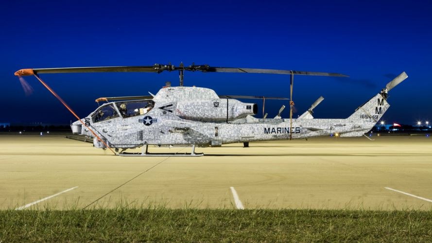 AH-1W SUPER COBRA attack helicopter military weapon aircraft (92) wallpaper
