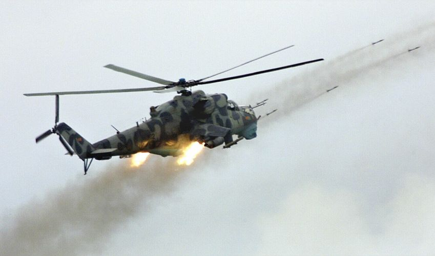 Mi-24 HIND GUNSHIP russian russia military weapon helicopter aircraft (7) wallpaper