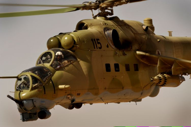 Mi-24 HIND GUNSHIP russian russia military weapon helicopter aircraft (6) wallpaper