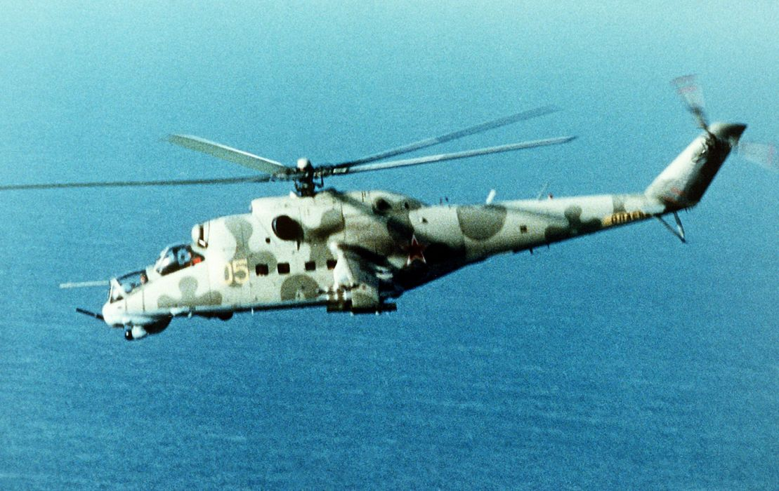 Mi-24 HIND GUNSHIP russian russia military weapon helicopter aircraft (28) wallpaper