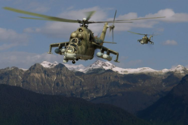 Mi-24 HIND GUNSHIP russian russia military weapon helicopter aircraft (37) wallpaper